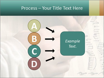 The hand writes musical PowerPoint Template - Slide 94