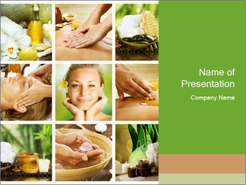 Spa Collage PowerPoint Template - Slide 1