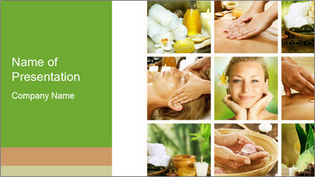 Spa Collage PowerPoint Template