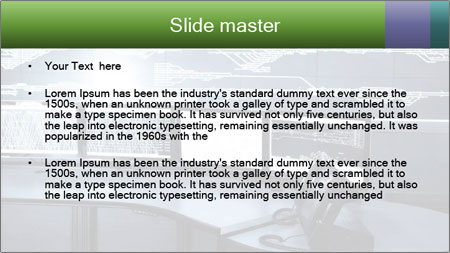 Developed electronic PowerPoint Template - Slide 2