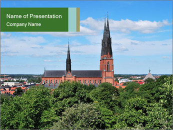 View of the Uppsala PowerPoint Template - Slide 1