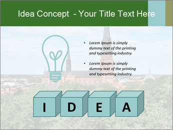 View of the Uppsala PowerPoint Template - Slide 80