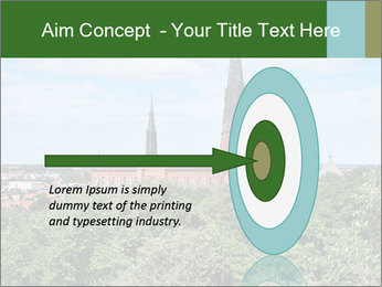 View of the Uppsala PowerPoint Template - Slide 83