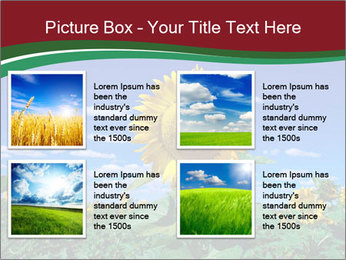 Sunflowers PowerPoint Template - Slide 14