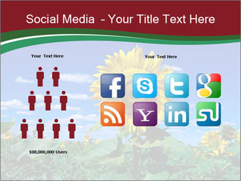 Sunflowers PowerPoint Template - Slide 5