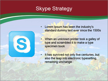 Sunflowers PowerPoint Template - Slide 8