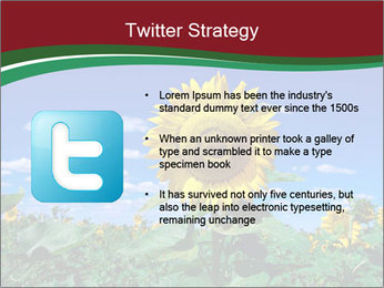 Sunflowers PowerPoint Template - Slide 9