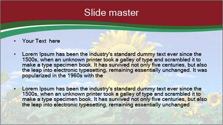Sunflowers PowerPoint Template - Slide 2