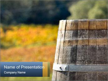Wine Barrel PowerPoint Template - Slide 1