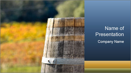 Wine Barrel PowerPoint Template - Slide 1