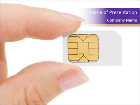 Sim card PowerPoint Template