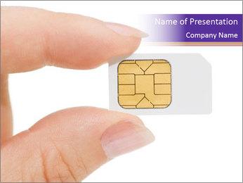 Sim card PowerPoint Template - Slide 1
