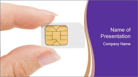 Sim card PowerPoint Template