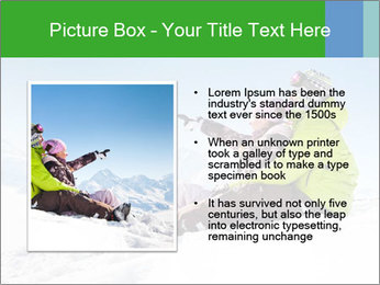 Couple in snowy PowerPoint Template - Slide 13