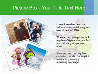 Couple in snowy PowerPoint Template - Slide 23