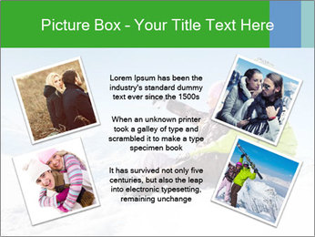 Couple in snowy PowerPoint Templates - Slide 24