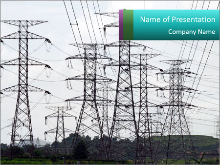 Giant power PowerPoint Template