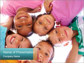 Happy children PowerPoint Template - Slide 1