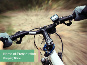 Bike on forest PowerPoint Template - Slide 1