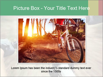 Bike on forest PowerPoint Template - Slide 16