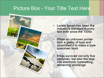 Bike on forest PowerPoint Template - Slide 17
