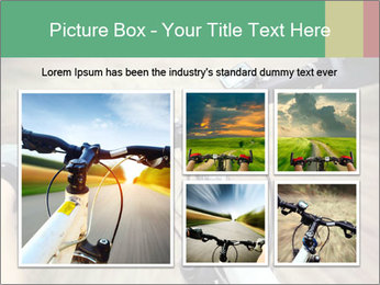 Bike on forest PowerPoint Template - Slide 19