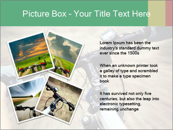 Bike on forest PowerPoint Template - Slide 23