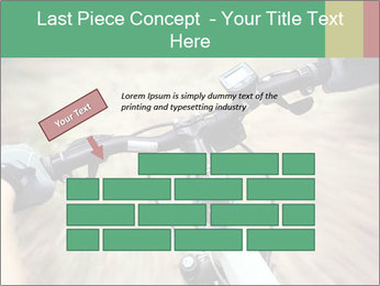 Bike on forest PowerPoint Template - Slide 46