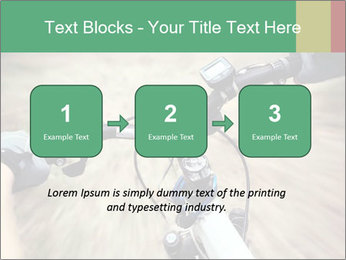 Bike on forest PowerPoint Template - Slide 71