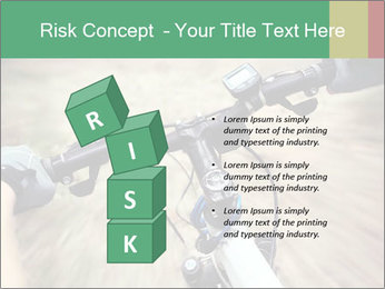 Bike on forest PowerPoint Template - Slide 81