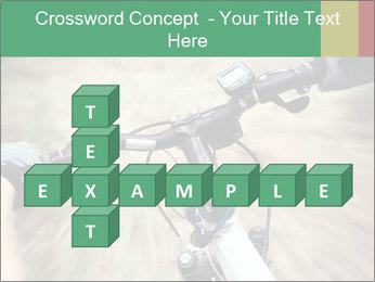 Bike on forest PowerPoint Template - Slide 82