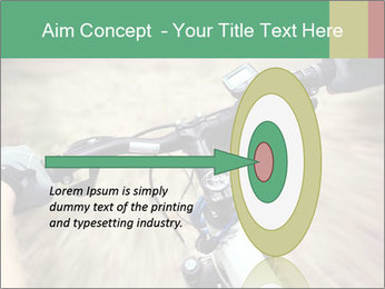 Bike on forest PowerPoint Template - Slide 83