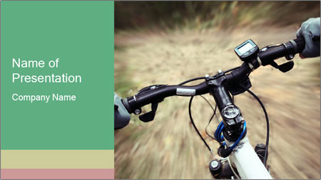 Bike on forest PowerPoint Template