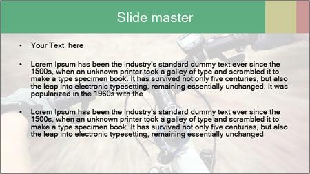 Bike on forest PowerPoint Template - Slide 2