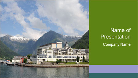 Balestrand PowerPoint Template - Slide 1