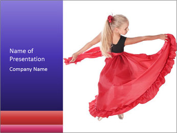 The girl in a red PowerPoint Template