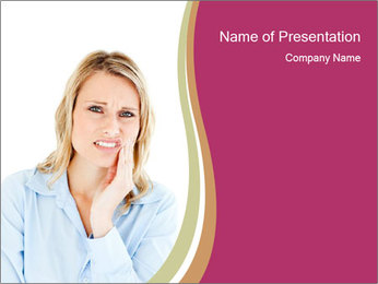 Dejected businesswoman PowerPoint Template
