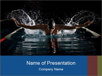 Swimming butterfly PowerPoint Templates - Slide 1