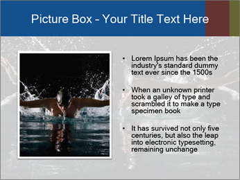 Swimming butterfly PowerPoint Templates - Slide 13