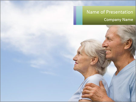 Old couple PowerPoint Template