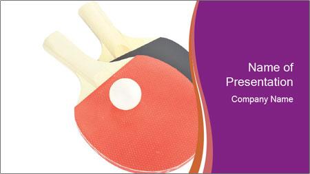 Tennis rackets PowerPoint Template