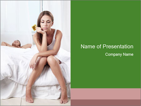 Attractive woman PowerPoint Template