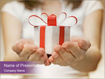 Time gifts PowerPoint Template - Slide 1