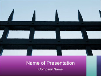 Iron fence. PowerPoint Templates - Slide 1