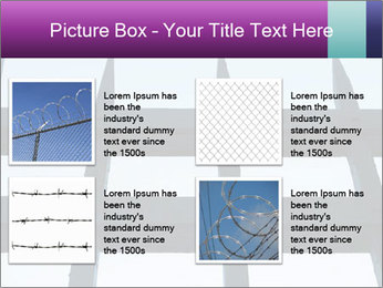 Iron fence. PowerPoint Templates - Slide 14