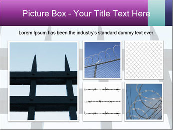 Iron fence. PowerPoint Template - Slide 19