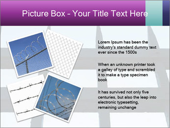 Iron fence. PowerPoint Templates - Slide 23