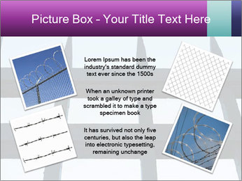 Iron fence. PowerPoint Templates - Slide 24