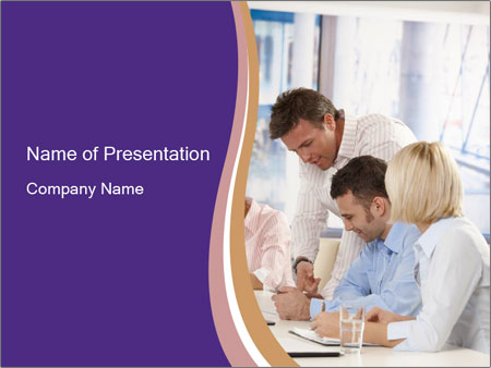 Young businesspeople PowerPoint Template