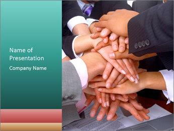 Teamwork PowerPoint Template - Slide 1